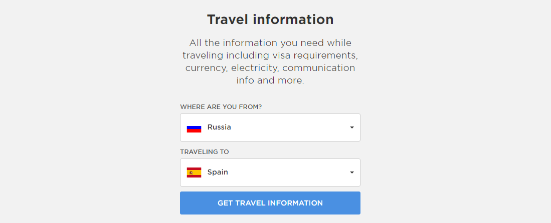 Travel information Basetrip