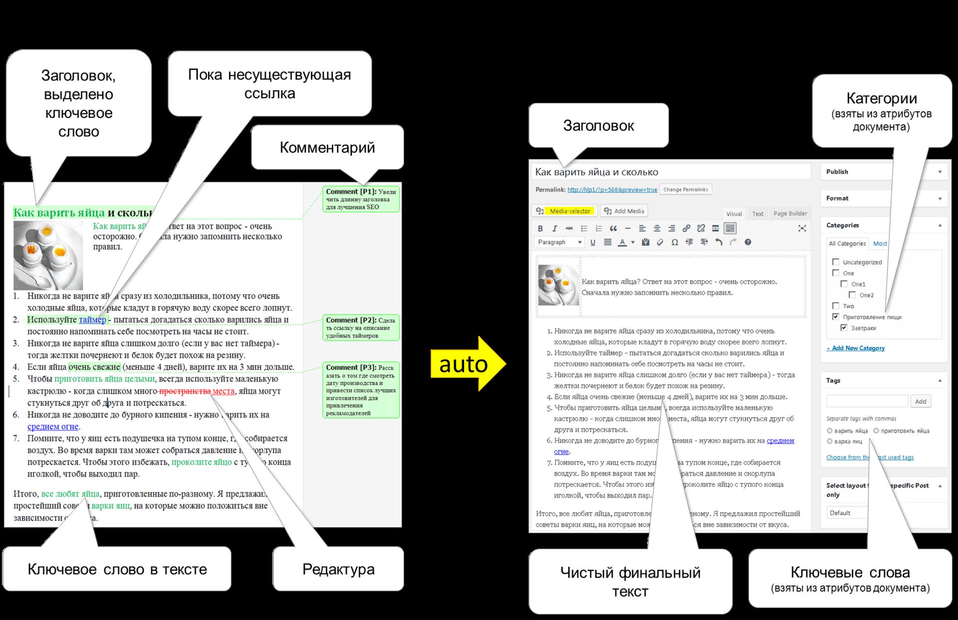 WordPress: импорт материалов из MS Word