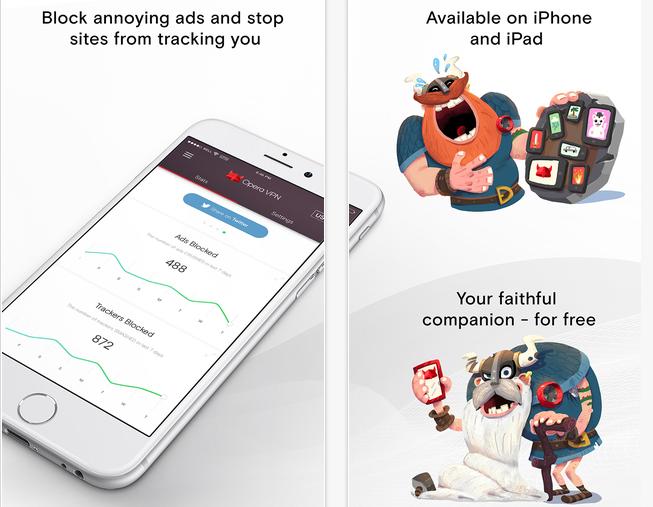 Opera VPN – бесплатный VPN для iPhone
