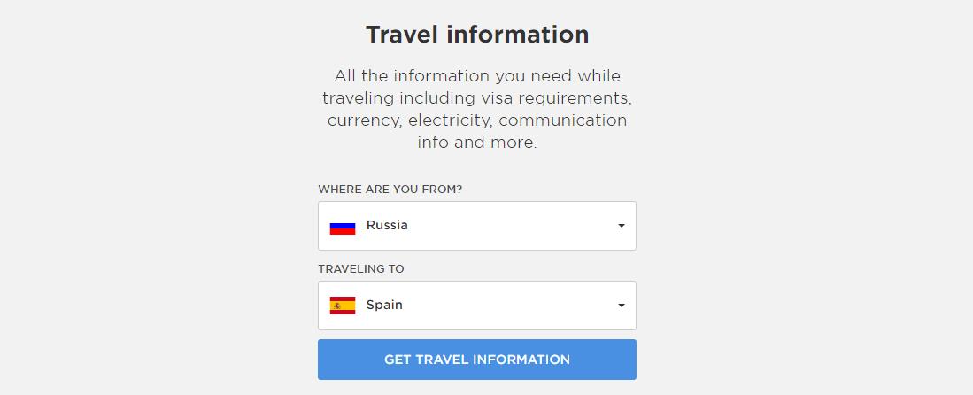Travel information Basetrip