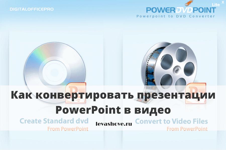 Как конвертировать презентации PowerPoint в видео