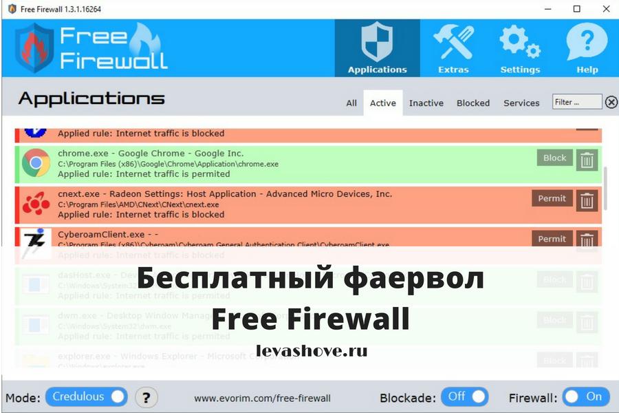 Бесплатный фаервол — Free Firewall