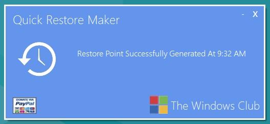 Как быстро создать точку восстановления системы Windows