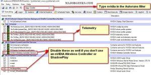 Отключение сбора телеметрии NVIDIA на Windows