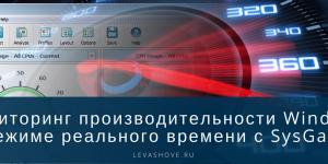 Мониторинг производительности Windows в режиме реального времени с SysGauge