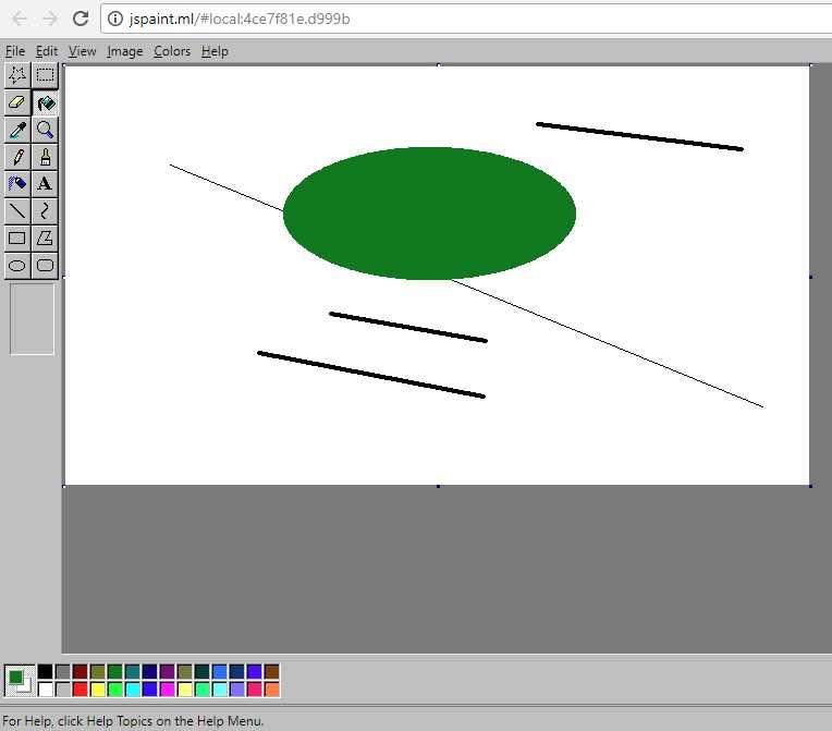 Как открыть классический Paint в браузере