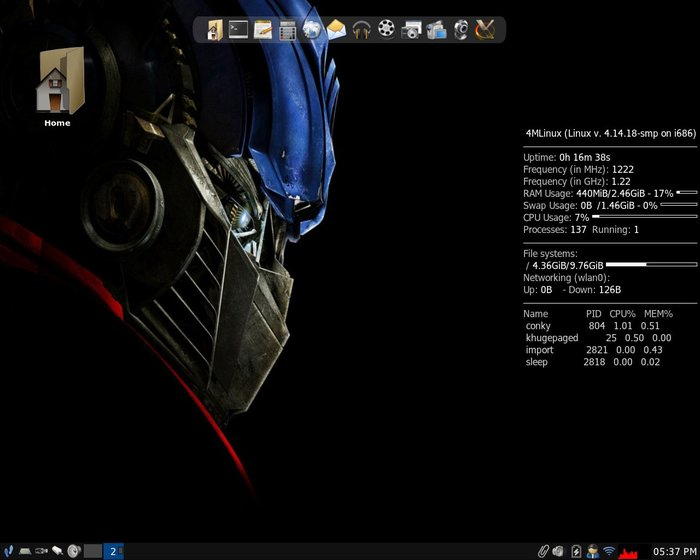 Выпуск 4MLinux 24.0. Лёгкий минималистичный дистрибутив