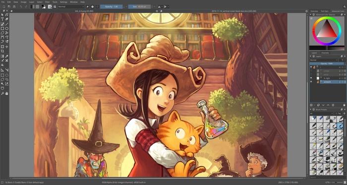Вышел редактор Krita 4.0. Альтернатива Photoshop для художников
