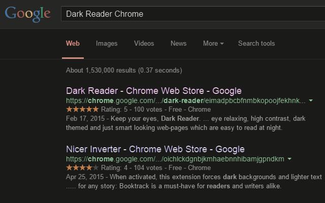 Темная тема для любого сайта в Chrome