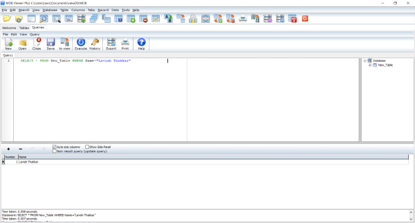 MDB Viewer Plus: просмотр и редактирование базы данных Microsoft Access