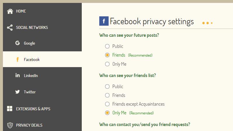 Plus Privacy — проверка настроек конфиденциальности в Facebook, Google, LinkedIn и Twitter
