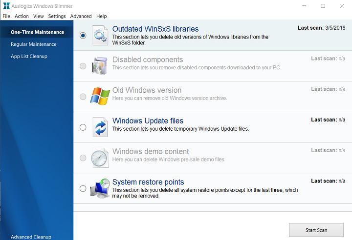 Auslogics Windows Slimmer — очистка жёсткого диска