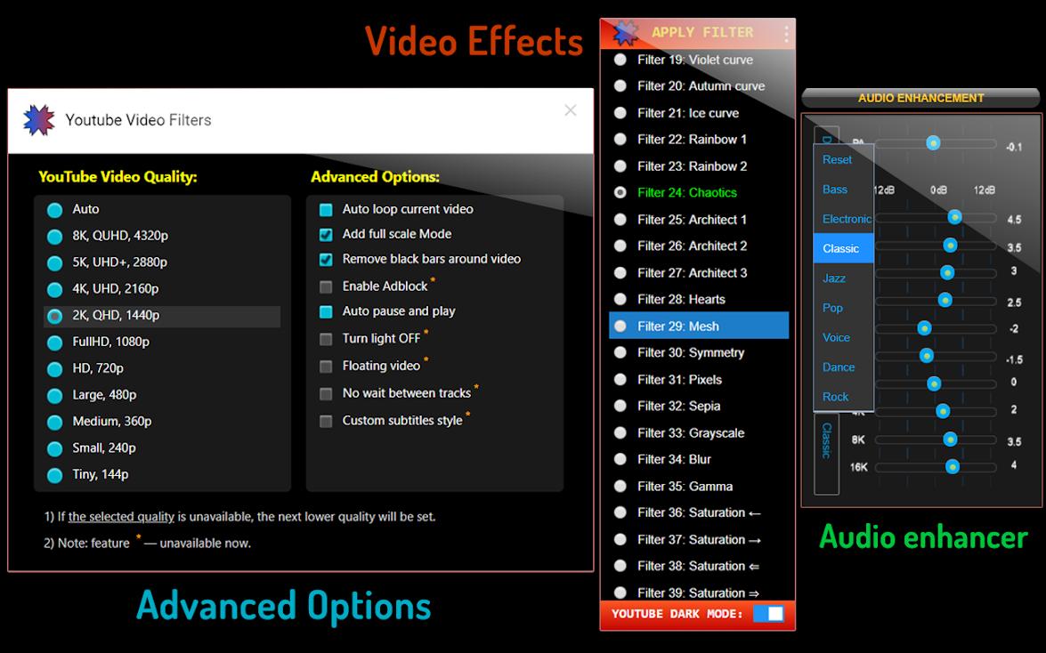 YouTube Video Effects — видеофильтры для YouTube