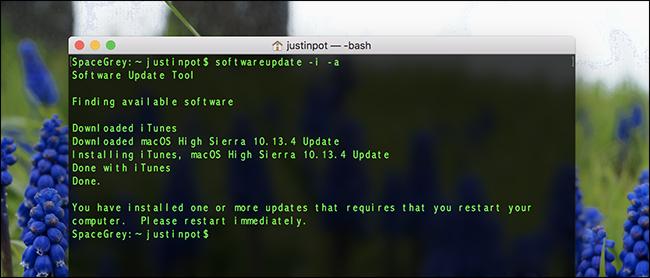 Как загрузить обновления MacOS с помощью терминала
