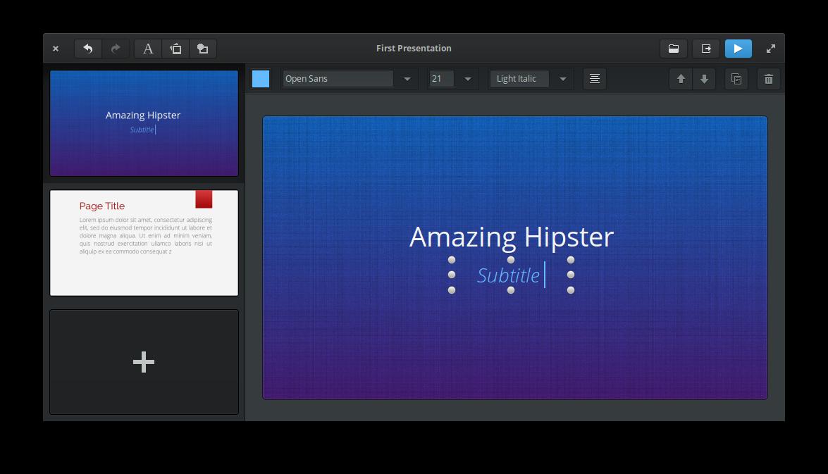 Создание презентаций в Linux. Программа Spice-Up