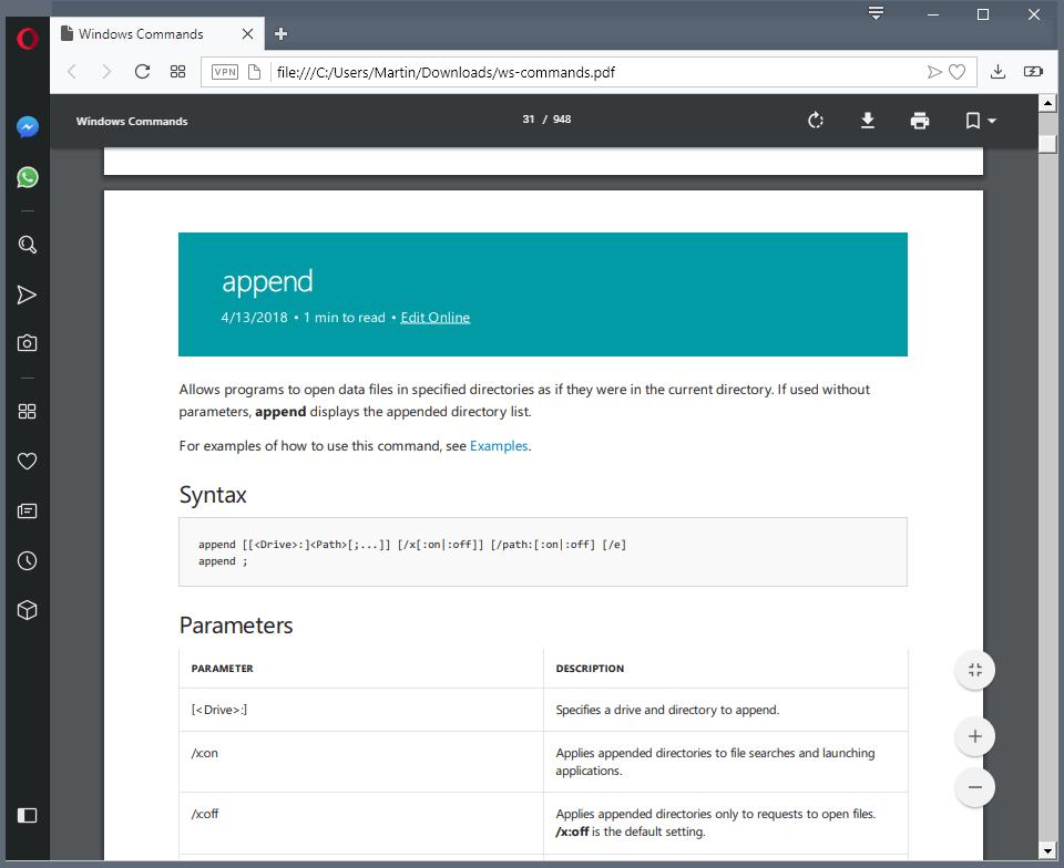 Новая справка по командной строке Windows от Microsoft