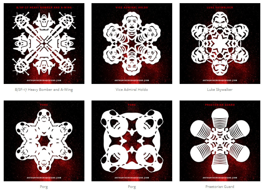 Как вырезать снежинку в форме Люка Скайуокера, Гарри Поттера или персонажей из Стражей Галактики