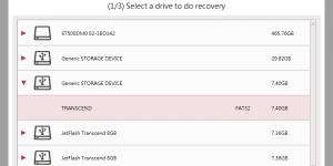 RecoveRx позволяет восстанавливать удаленные файлы с накопителей