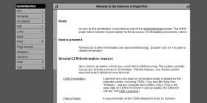 Теперь вы можете попробовать CERN — браузер 1990 года