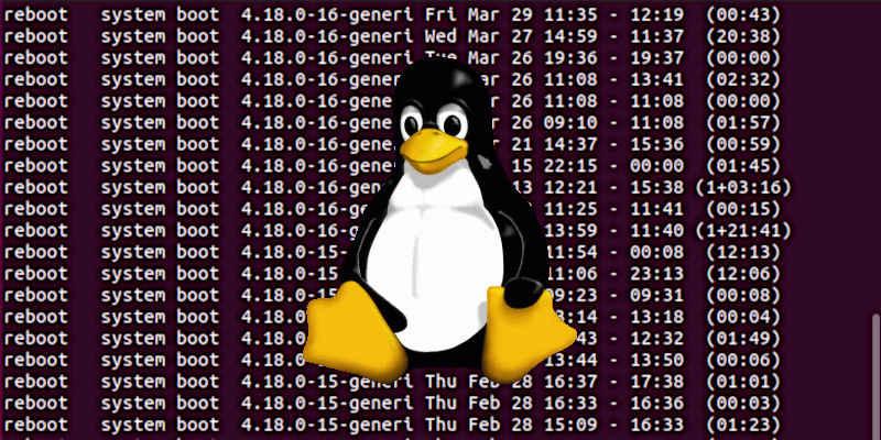 Как проверить дату выключения и перезагрузки в Linux