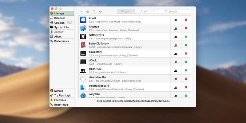 mySIMBL для глубокой настройки MacOS