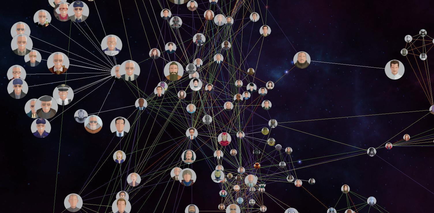 Вселенная MARVEL. Интерактивная карта с историей героев