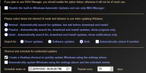 Управление или остановка обновлений Windows 10. WAU Manager