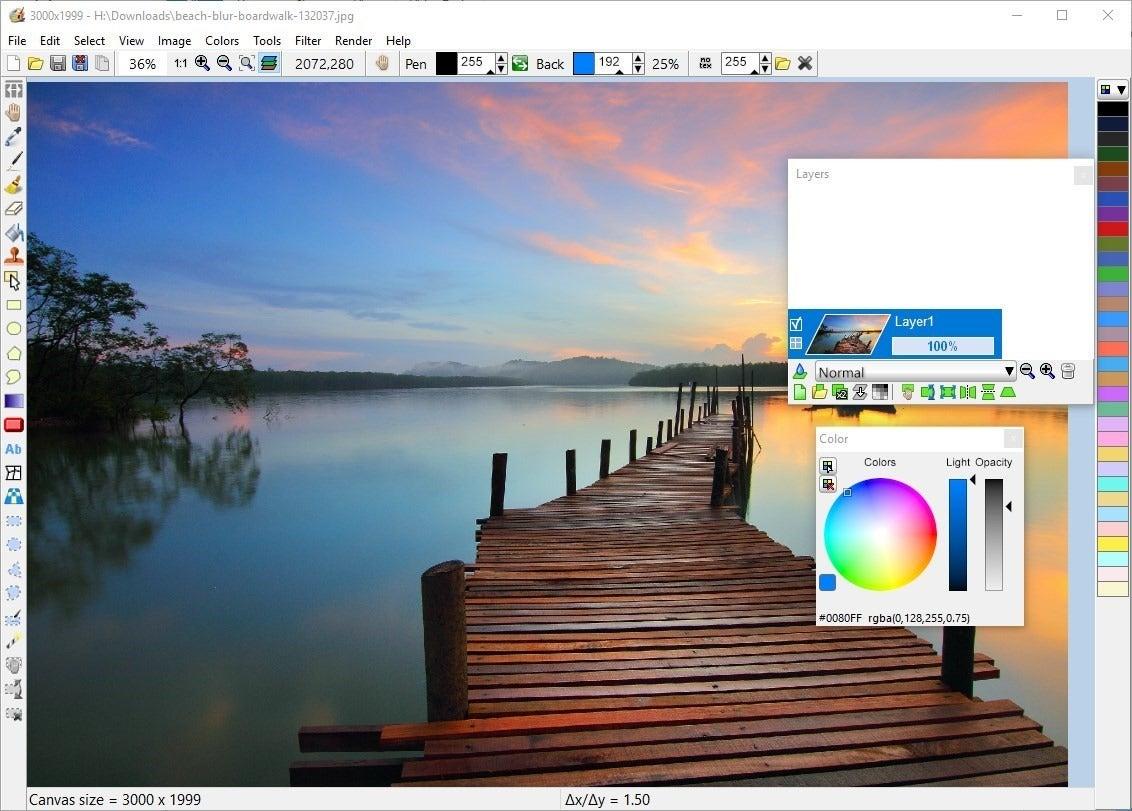 LazPaint — редактор растровой графики с открытым исходным кодом для Windows, macOS и Linux